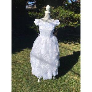 Other - EUC sz 12 off the shoulder Holy Communion Dress